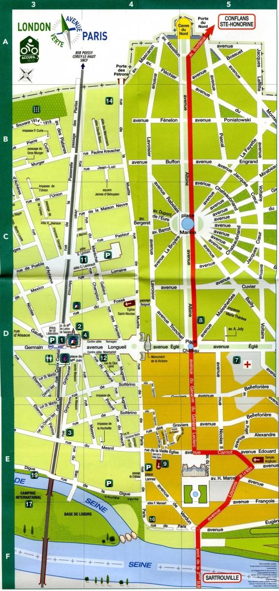 Itinéraire Paris Londres à Maisons Laffitte
